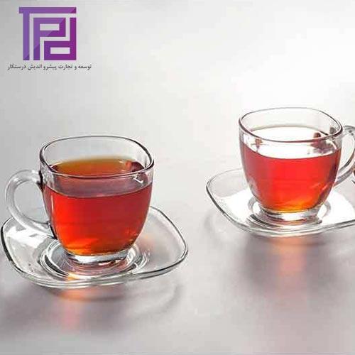 فنجان و نعلبکی لیندو محصول شیشه و بلور کاوه