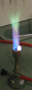 بوراکس (رنگ شعله: سبز)