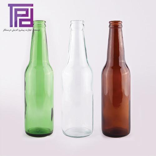بطر ۳۰۰ استار سفید، سبز و قهوهای عمومی محصول شرکت شیشه سازی مینا