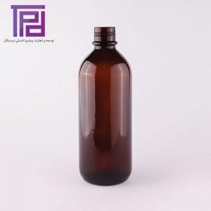 بطر یک لیتری الکل بلند عمومی با حجم ۱۰۲۰ سی سی محصول شرکت شیشه سازی مینا