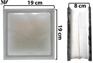 ابعاد بلوک شیشهای کاوه